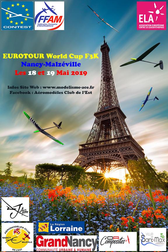Eurotour World Cup F3K Nancy  2019  Affich10