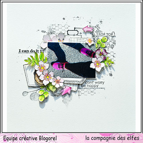 Sketch scrap page ou carte. Blogo180