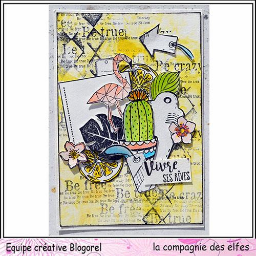 Cartes créatives Août 2019. Blogo216