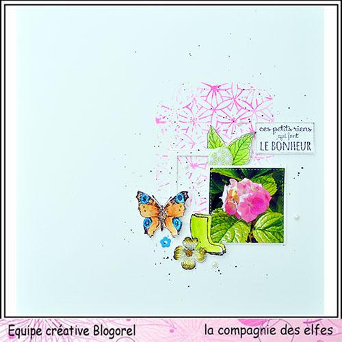 Sketch carte ou page XoXo. Blogo221