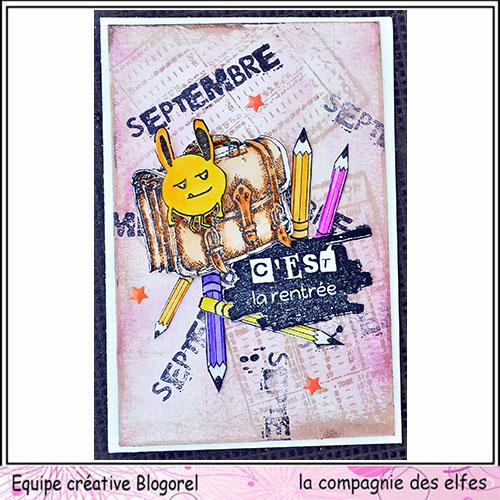 Cartes créatives de Septembre. Blogo233