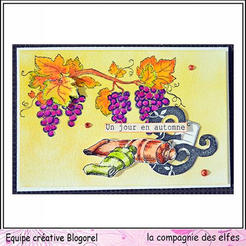Carte automne vin et raisin 3/3  Blogo270