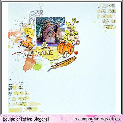 Sketch page par Gribouillette. Blogo284
