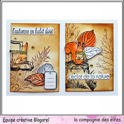 Cartes créatives de Novembre. Blogo300