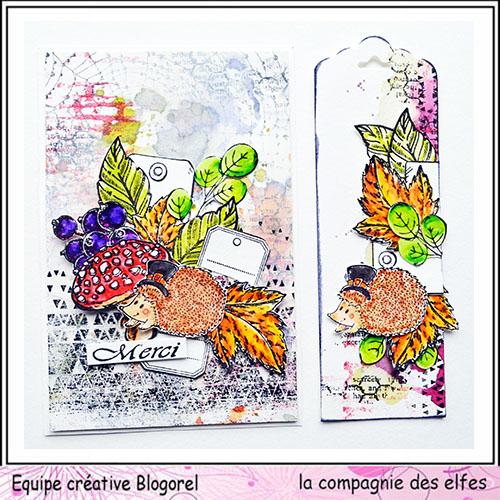 25 novembre Sabine carte avec chapeau ... Blogo307