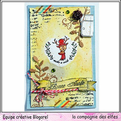 Tuto carte de voeux par Blogorel. Blogo336