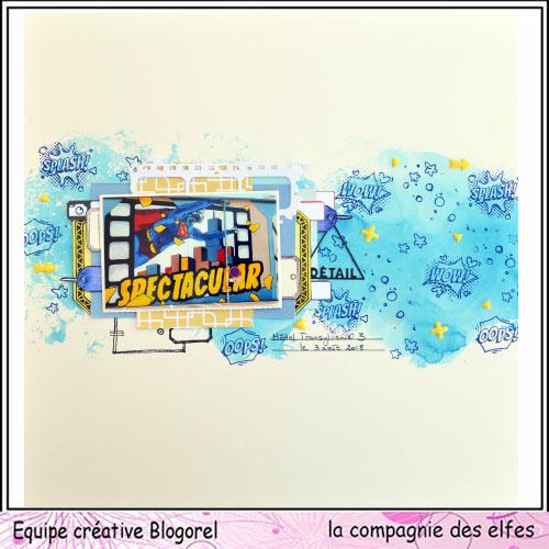 Page scrapbooking août 2018. Blogor30
