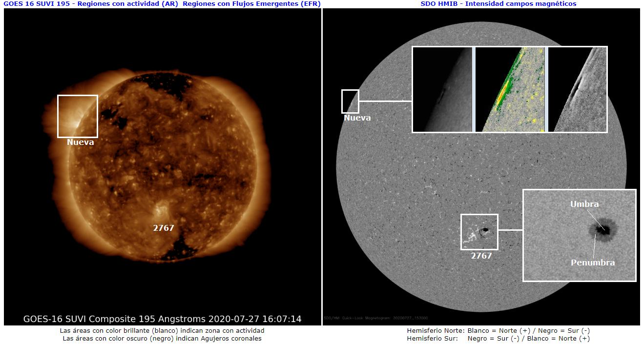 Monitoreo de la actividad solar 2020 20200714