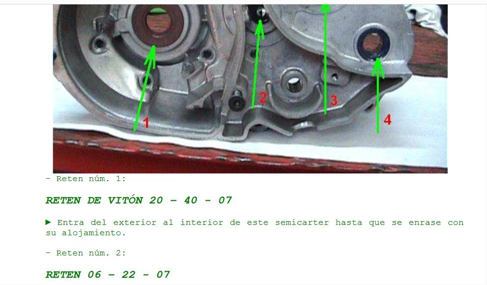 Fuga aceite biela embrague cobra M82 Motor_10