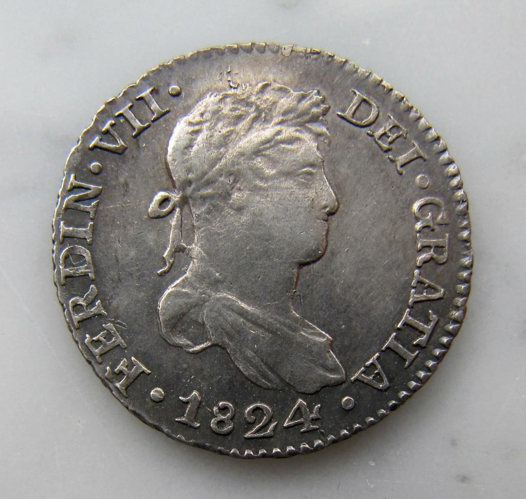 1 Real 1824. Fernando VII. Peru, Cuzco  Peru_110