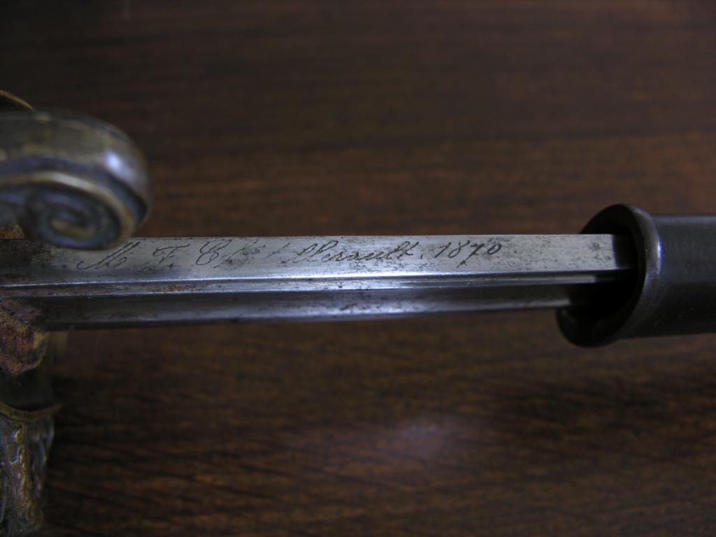 Marquage de lames sabres issus de Chatellerault Mermil11