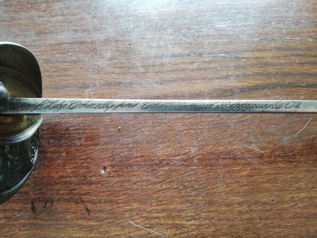 Marquage de lames sabres issus de Chatellerault Rassin12