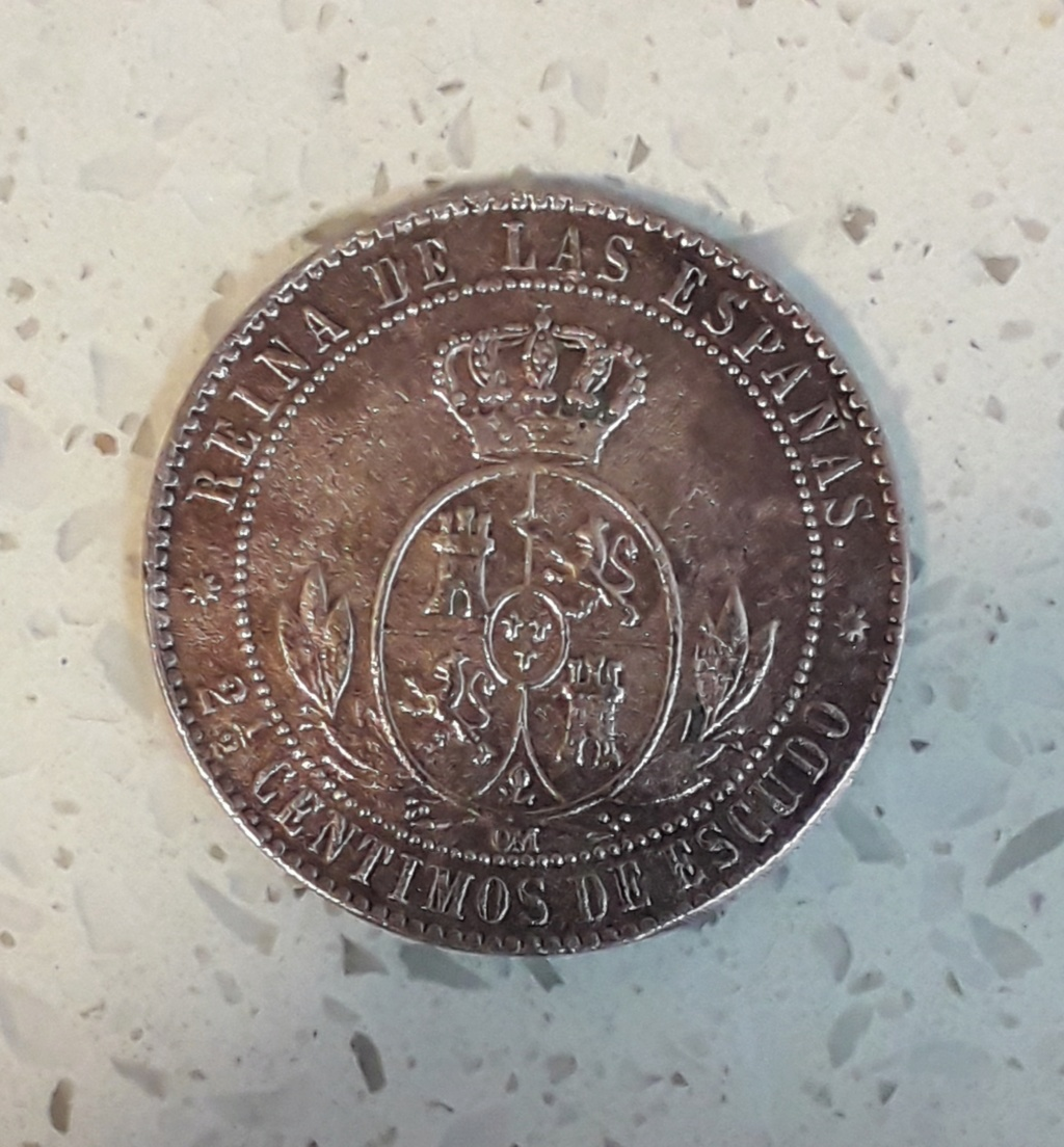 caca Isabel segunda 2 1/2 cents 20190114