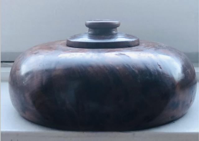 petite boite déco en ronce de thuya Captu105