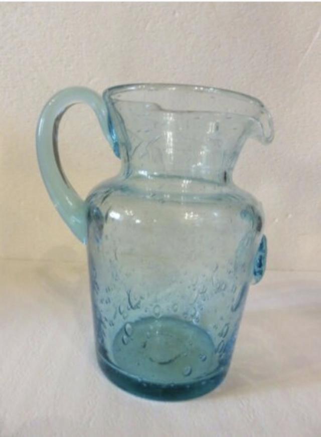 Vase et broc à eau Verrerie d'art de Avallon Captu381