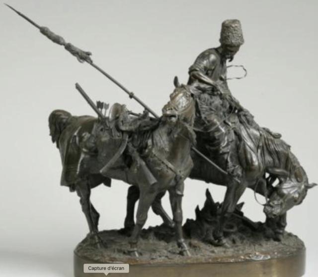 Sculpture bronze guerrier cosaque d' Eugène Lanceray  - Page 2 Captur94