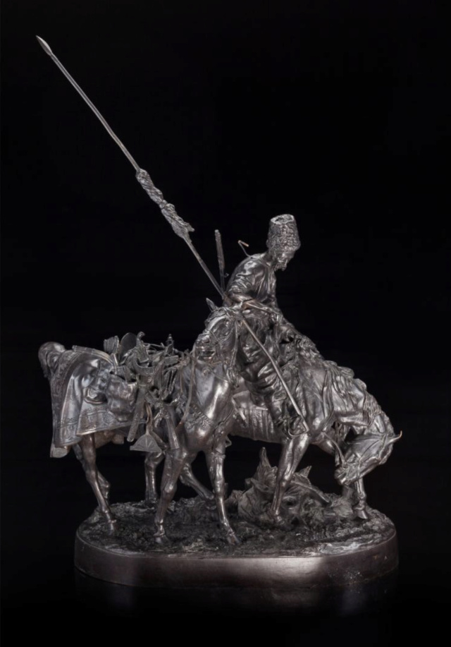 Sculpture bronze guerrier cosaque d' Eugène Lanceray  - Page 2 Captur99