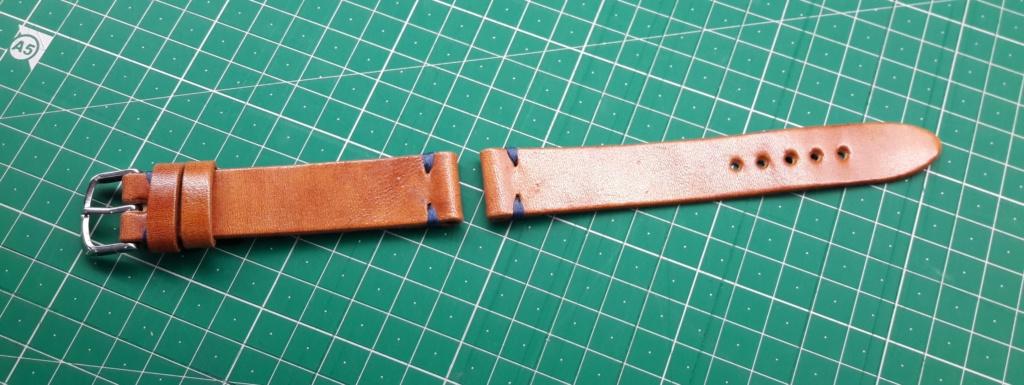 [Vendido] Bracelete artesanal pele 20 mm 20180812