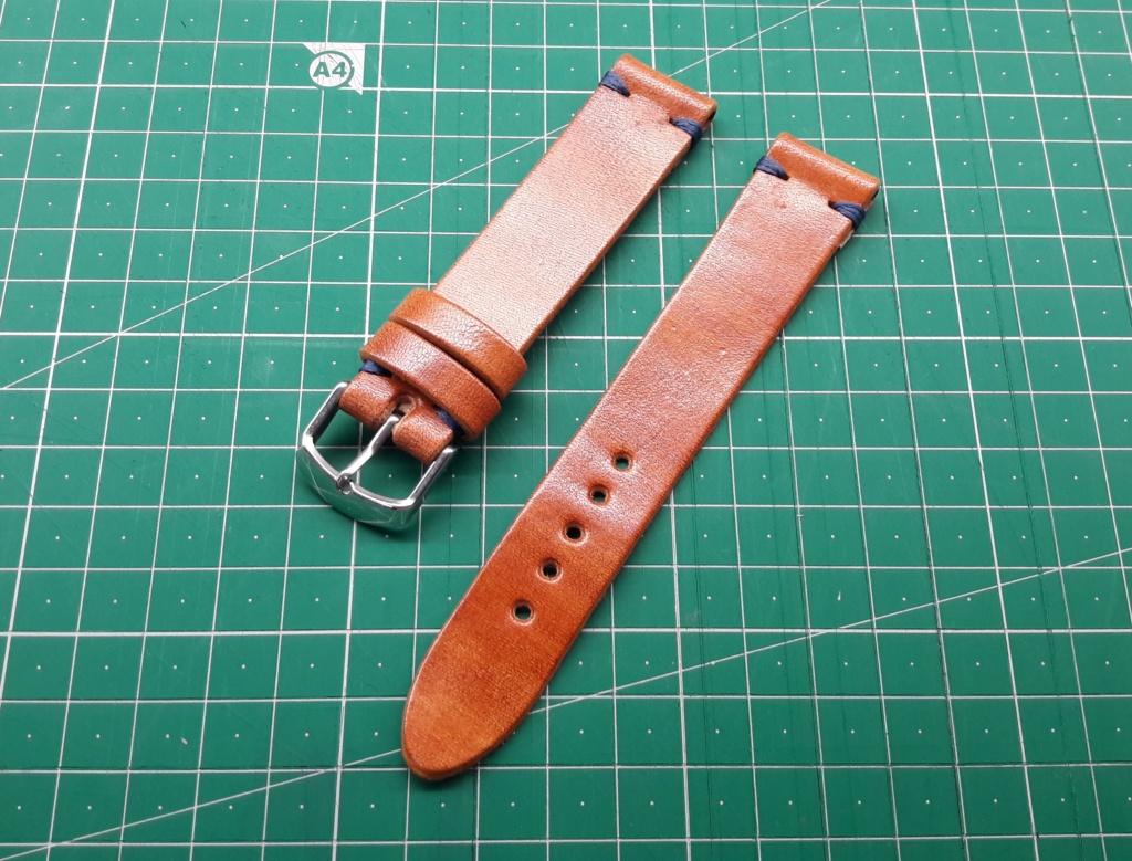 [Vendido] Bracelete artesanal pele 20 mm 20180813