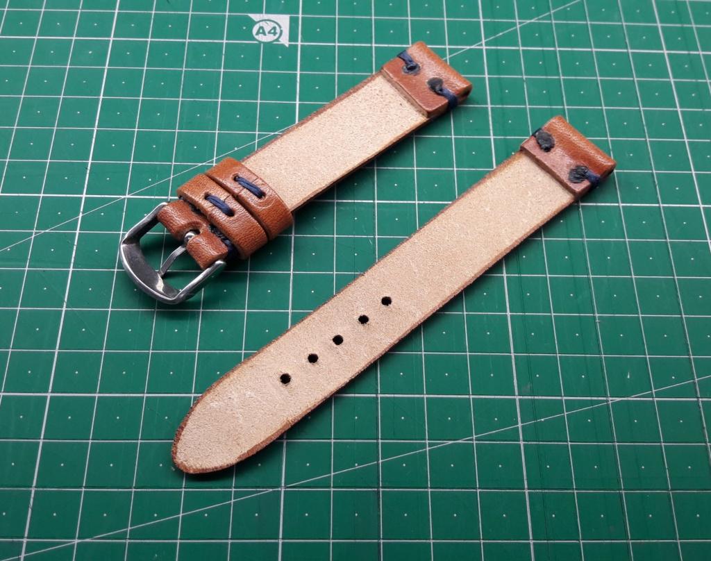 [Vendido] Bracelete artesanal pele 20 mm 20180814