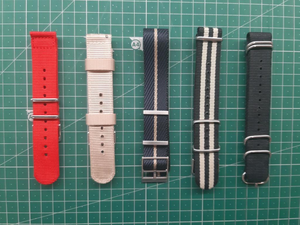 [Vendido] Lote de 5 braceletes  20 mm em nylon 20200910