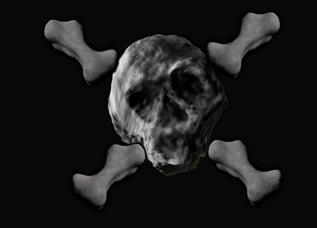 Un astéroïde en forme de tête de mort va frôler la Terre Pirate10