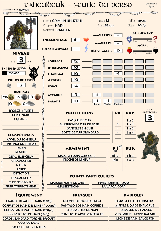 Grimlin, Nain Ranger Grimli11