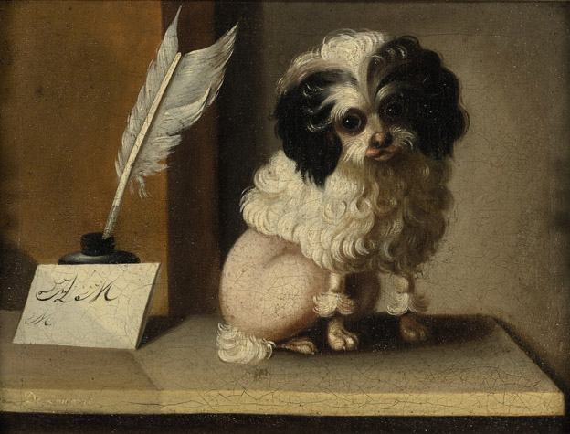 Historical Paintings of Poodles Poodle13