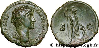 Sesterce de Marc Aurèle César buste à gauche 593bba10