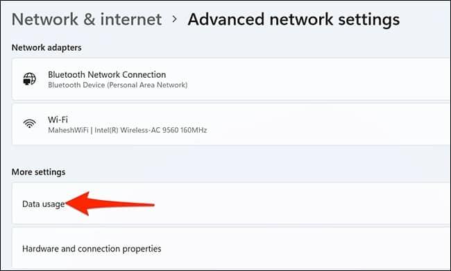 كيفية تقييد استهلاك الإنترنت في ويندوز 11 3-data10