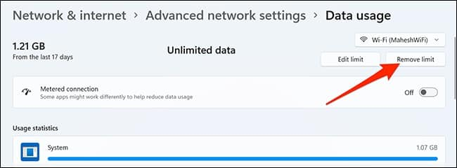 كيفية تقييد استهلاك الإنترنت في ويندوز 11 9-remo10