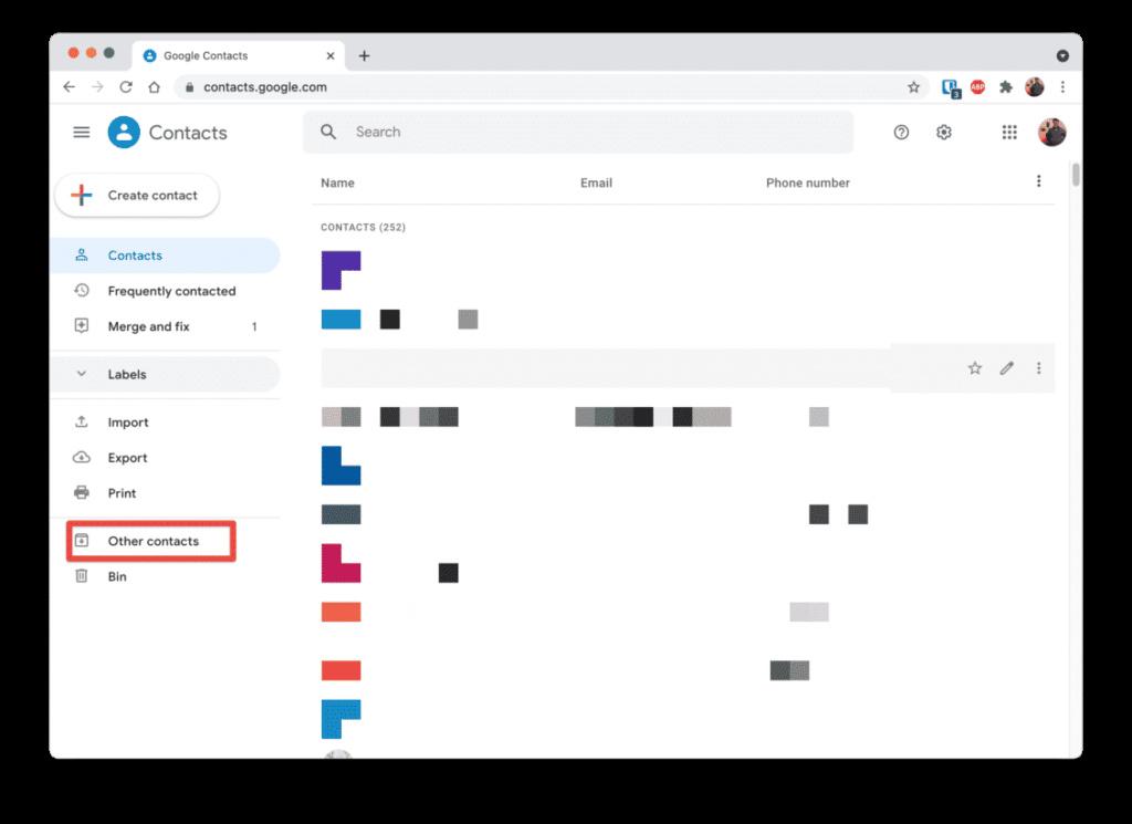 كيفية إخفاء جهات اتصال جوجل التي لا تستخدمها Cleans10