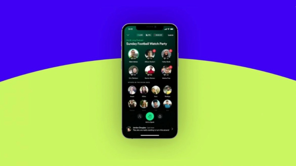 Spotify تطلق تطبيق Greenroom لمنافسة كلوب هاوس Greenr10
