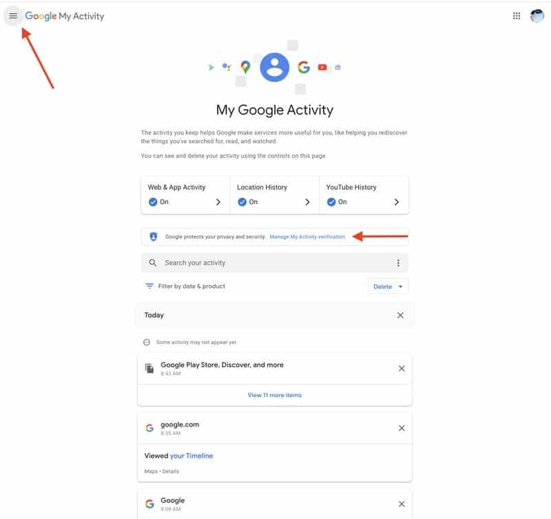 كيفية حماية سجل نشاطك في جوجل باستخدام كلمة المرور How-to14