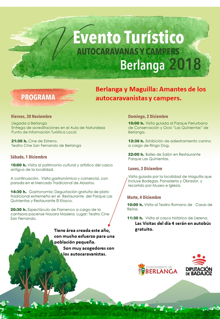 EVENTO TURISTICO  AUTOCARAVANAS Y CAMPERS BERLANGA 2018 Evento11