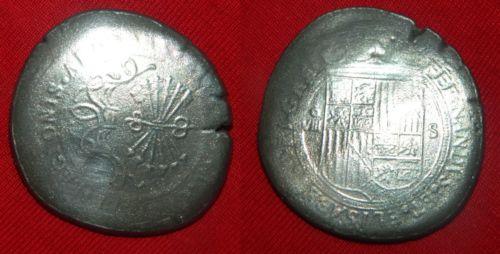 8 reales a nombre de los RR.CC. falsos 8reale10