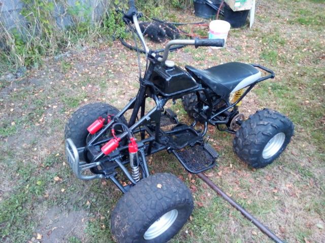 Quad en fase de convertir a eléctrico con alternador de coche convertido a motor con 10Kw de potencia. Img_2011