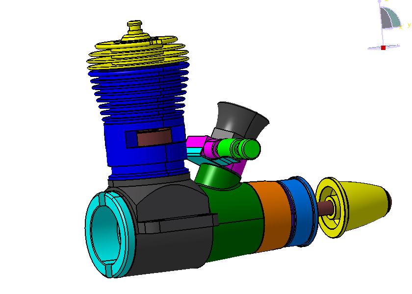 3d CAD models of Cox engines Cox_110