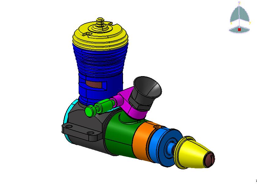 3d CAD models of Cox engines Cox_210