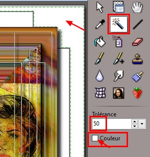 Créer un masque avec le filtre VM instant art. Baguet10