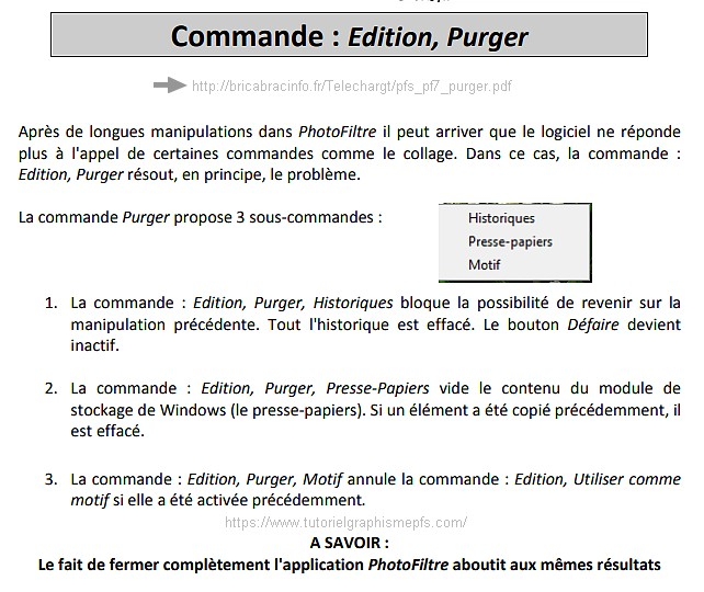 Pourquoi purger photofiltre ? Purger11