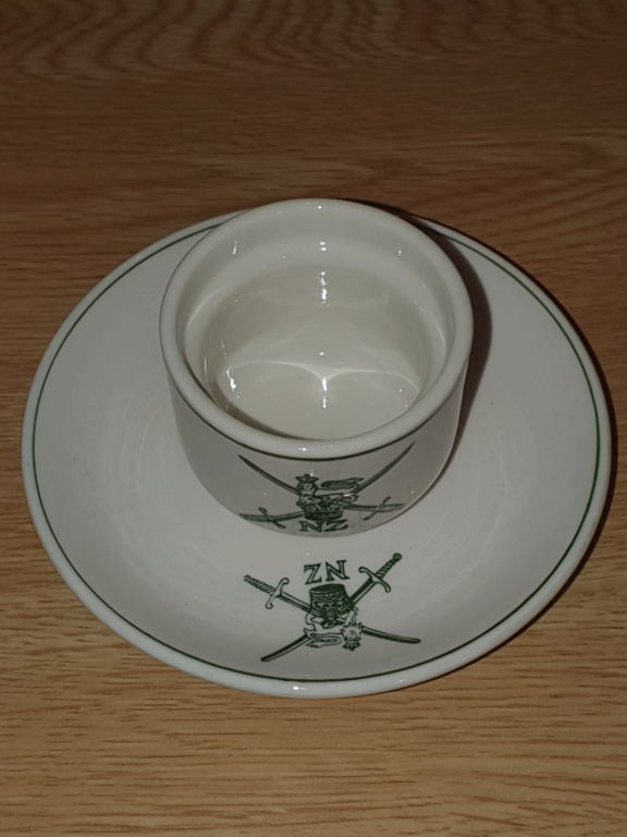 NZ Army Egg Cup and Saucer 20190712