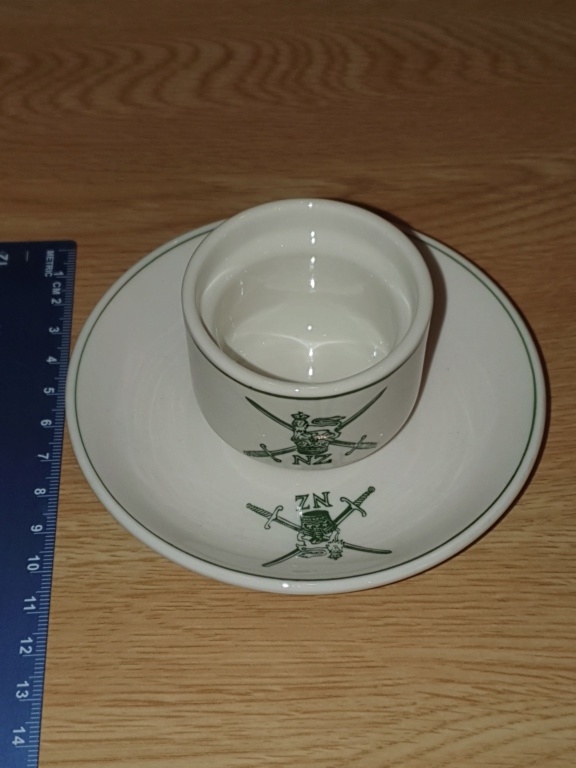 NZ Army Egg Cup and Saucer 20190713