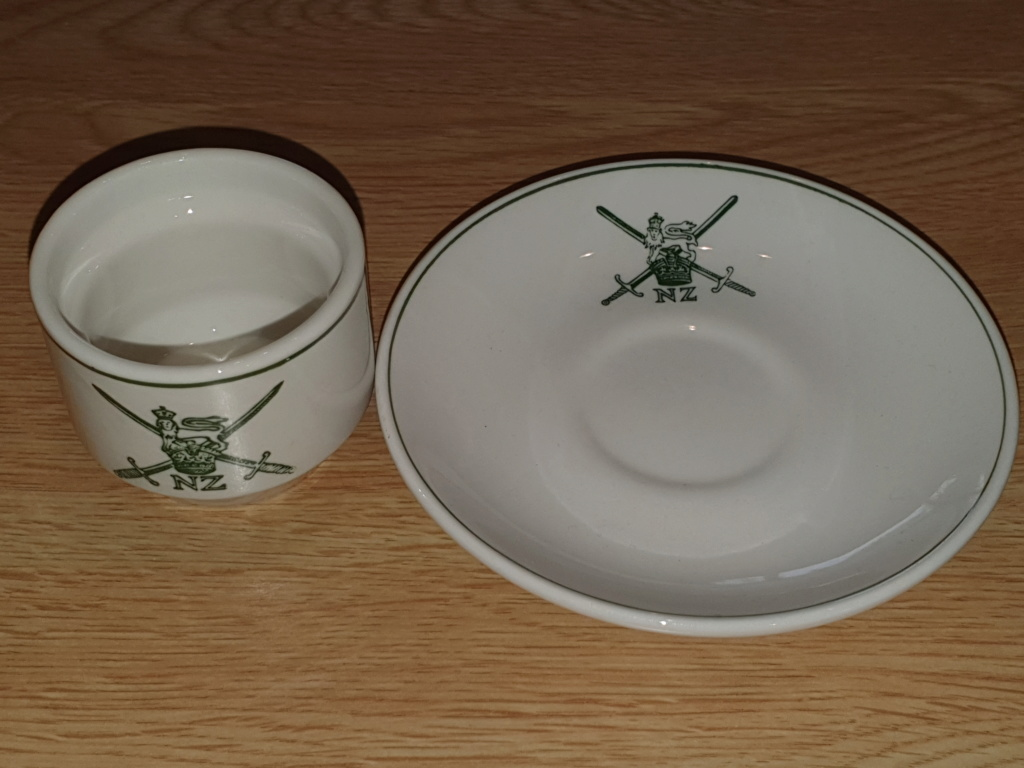 NZ Army Egg Cup and Saucer 20190714