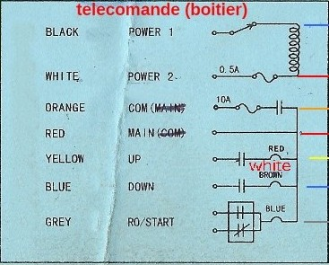 adaptation. Palan 1T 220v filaires avec telecommande sans fils. Sans_t10
