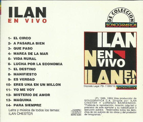 ILAN CHESTER - EN VIVO EN MATA DE COCO - 1988 Contra22