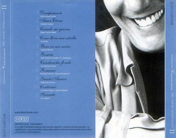 ILAN CHESTER - CANCIONERO DEL AMOR VENEZOLANO 2 - 2000 Contra25