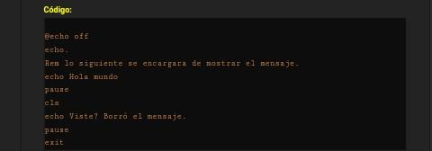 Cómo personalizar la apariencia de la etiqueta [code]? Screen10