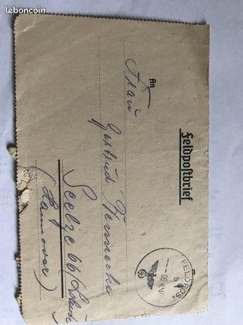 Reconnaitre les fausses lettres de soldat allemand Lo10