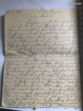 Reconnaitre les fausses lettres de soldat allemand Lo110